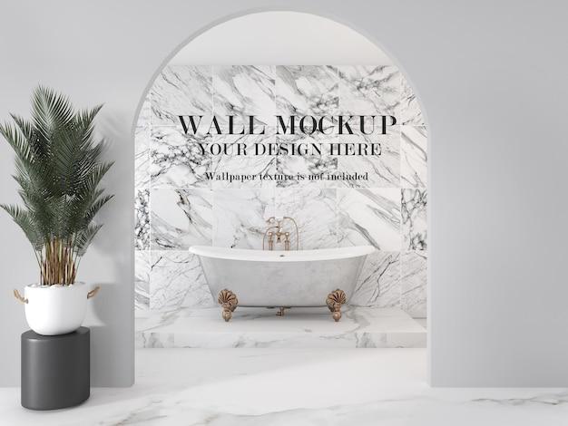 Muro di mockup del bagno
