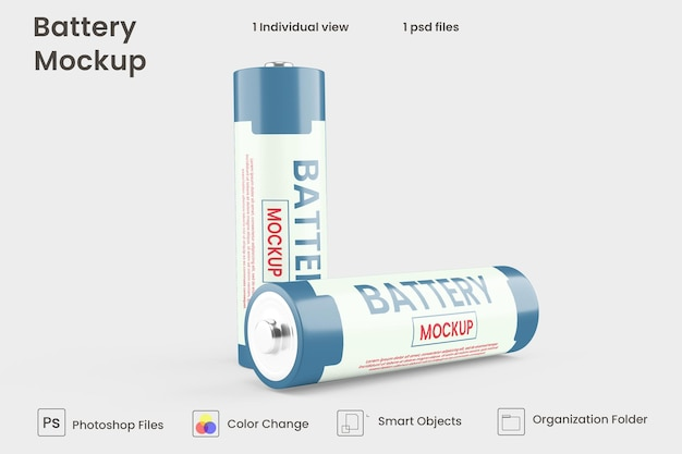 Mockup cellulare della batteria in rendering 3d per la progettazione del prodotto
