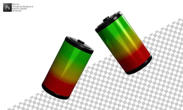 Batteria illustrazione 3d design