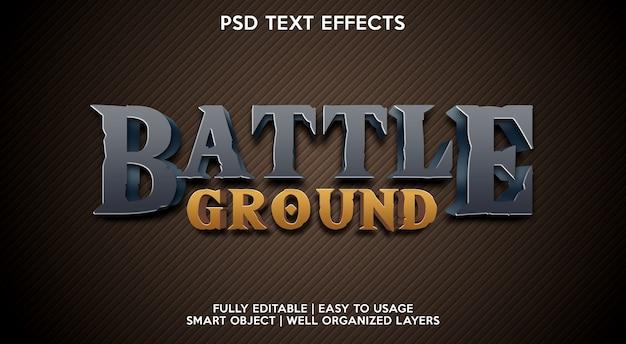 Modello di effetto testo campo di battaglia
