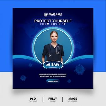 Sii al sicuro social media post banner