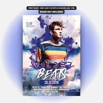 Beats party flyer