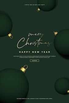 Bella carta di natale e felice anno nuovo