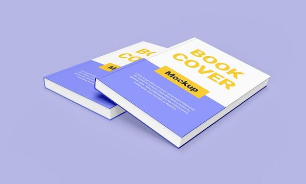 Bellissimo design mockup di libri con copertina rigida