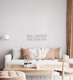 Bellissimo modello di parete del soggiorno interno