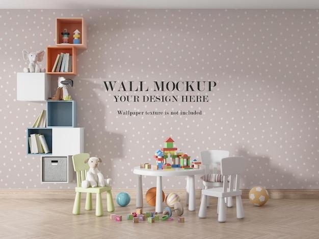 Bellissimi bambini design mockup parete sala giochi