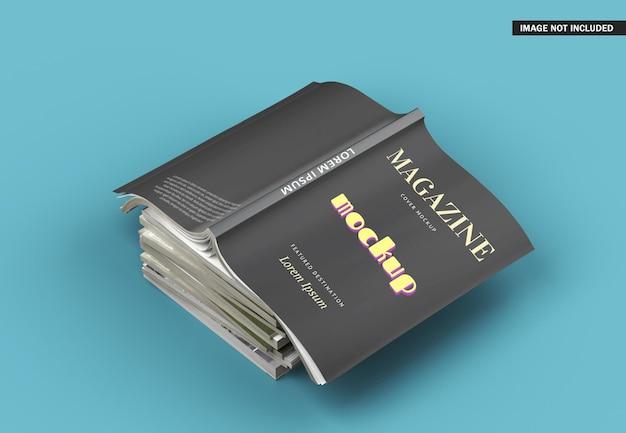 Bella rivista mockup design isolato