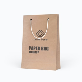 Bellissimo design mockup sacchetto di carta