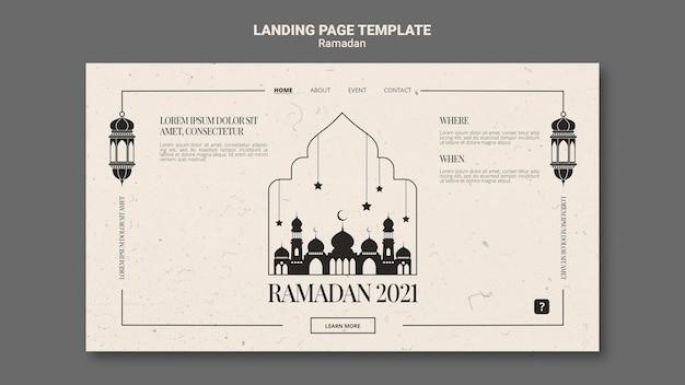 Bellissimo modello web di ramadan