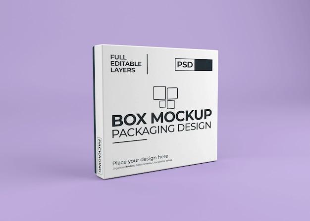 Bellissimo mockup scatola realistica isolato