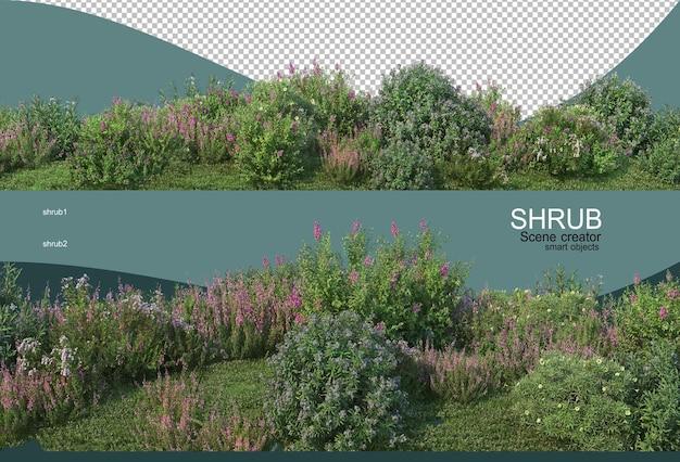 Bellissimo piccolo giardino fiorito Psd Premium