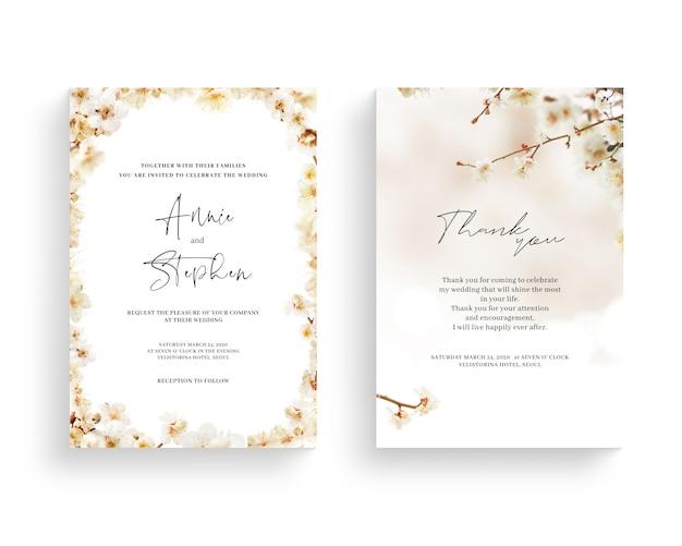 Cornice floreale bella primavera, invito, carta di nozze, grazie saluto,
