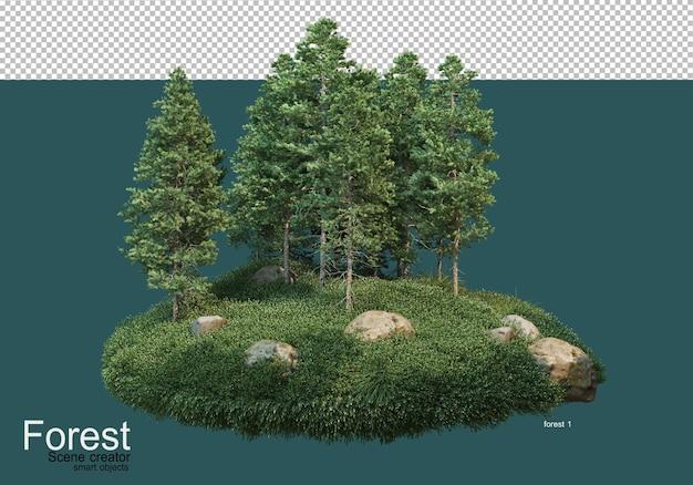 Bella varietà di layout forestali Psd Premium