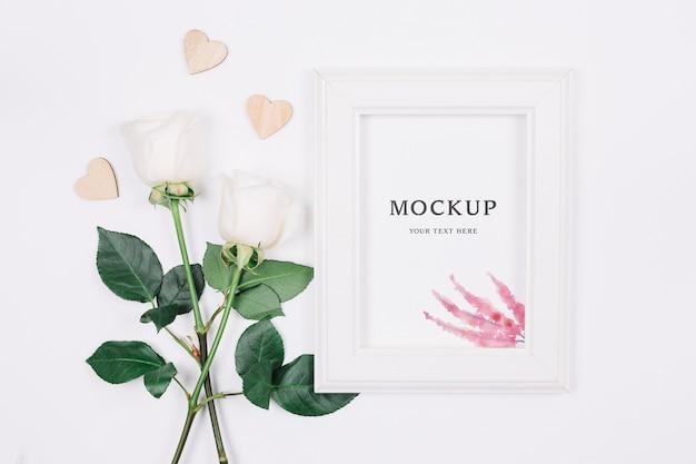 Mock-up di concetto di matrimonio bellissimo