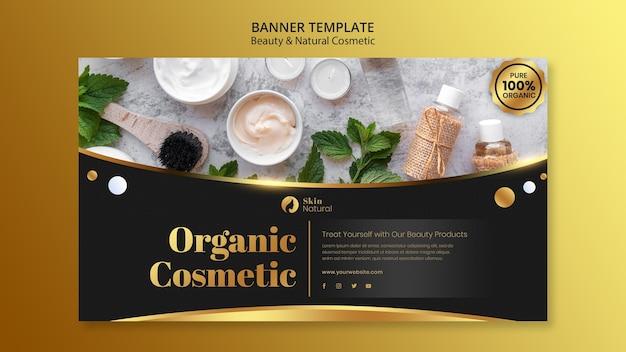 Banner di bellezza e cosmetici naturali