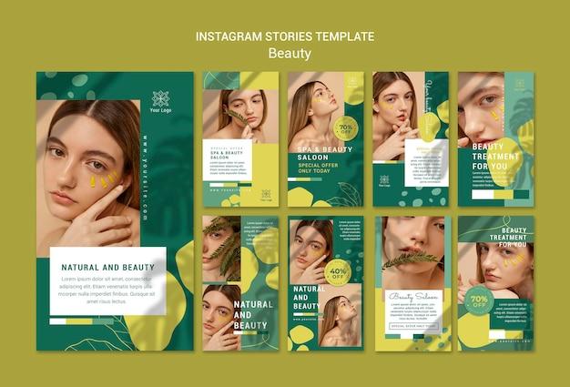 Modello di storie instagram salone di bellezza