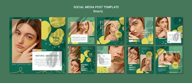 Modello di post sui social media del salone di bellezza