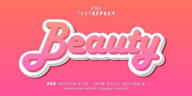 Premio modificabile di bellezza testo e stile effetto font premium