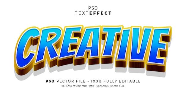 Modello modificabile stile bellezza effetto testo e font