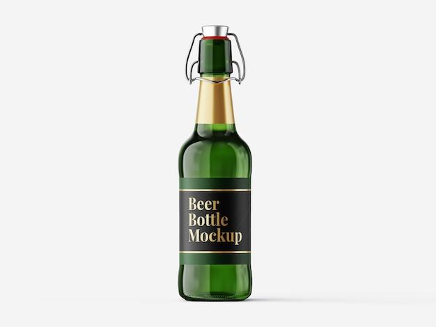 Modello di mockup di bottiglia di birra