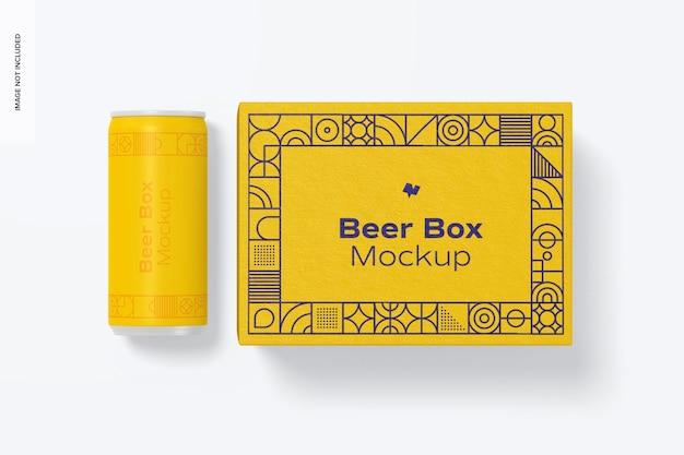 Mockup di scatola di birra