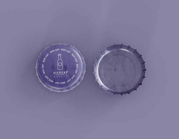 Mockup di tappi di birra