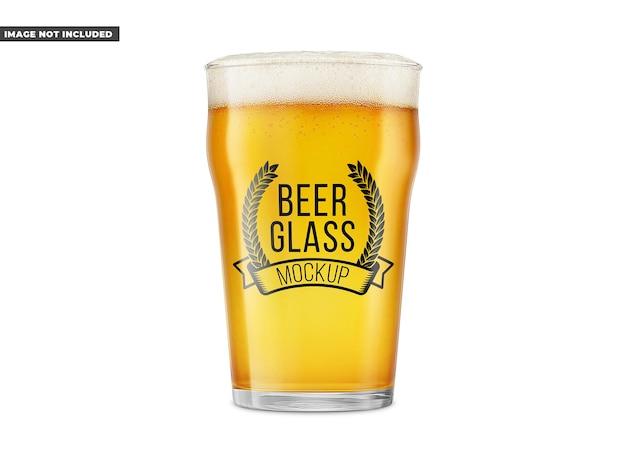 Mockup di bicchiere di birra