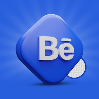 Behance icona 3d