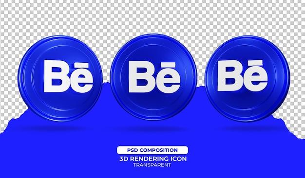 Behance 3d rendering icona design