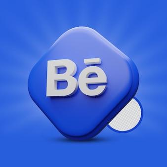 Icona di rendering 3d behance
