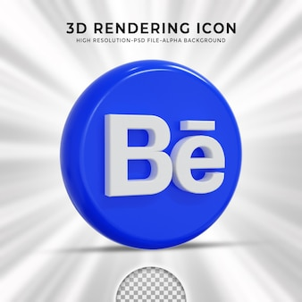 Behance logo lucido e icone social media