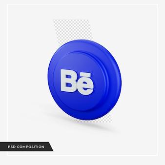 Icona di behance nel rendering 3d
