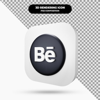 Behance oggetto icona 3d
