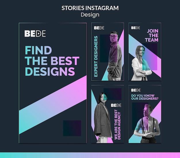 I migliori modelli di storie di instagram di design Psd Premium