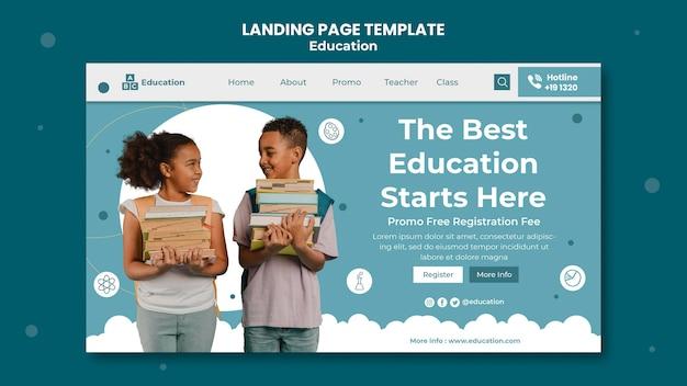 Miglior modello di pagina di destinazione per l'istruzione