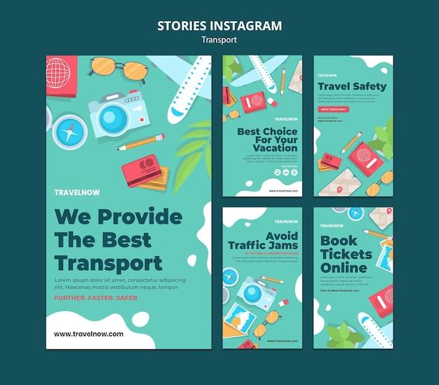 Miglior modello di storie di instagram di trasporto