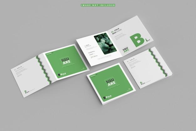 Mockup di brochure quadrato pieghevole