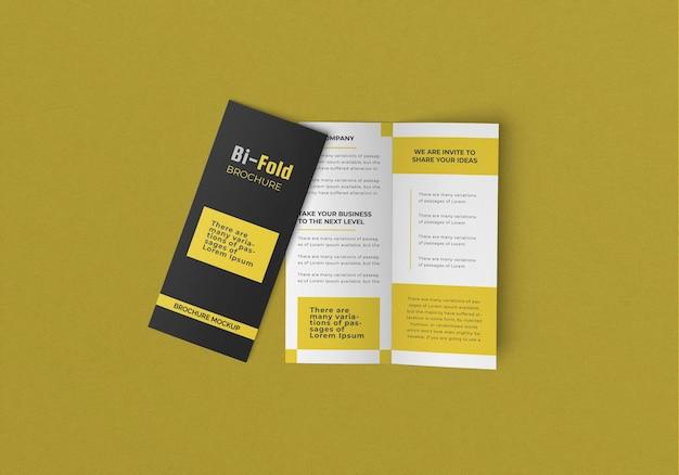 Design mockup brochure flyer bifold
