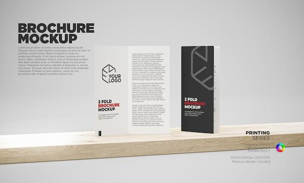 Modello di brochure flyer bifold