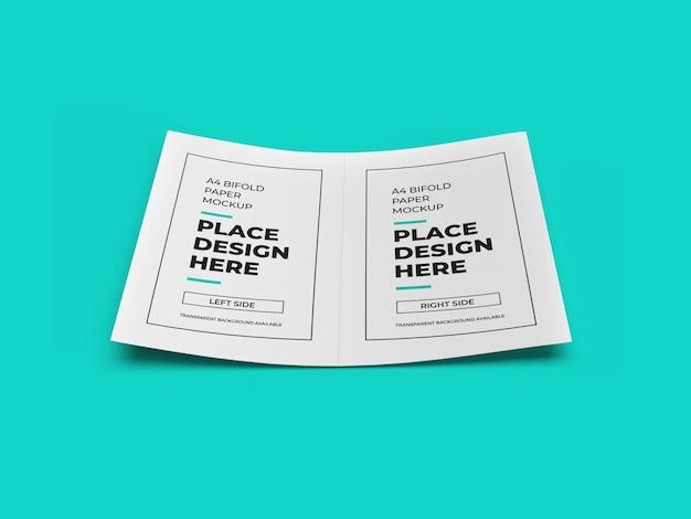 Bifold flyer mockup design isolato