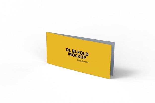 Mockup di brochure orizzontale bifold