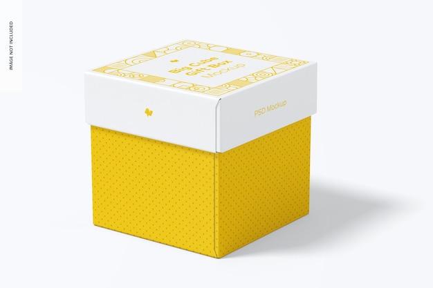 Mockup di scatola regalo cubo grande