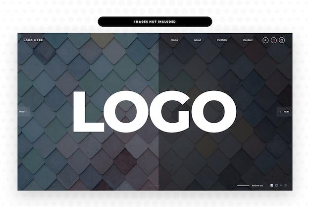 Modello di sito web con logo grande,