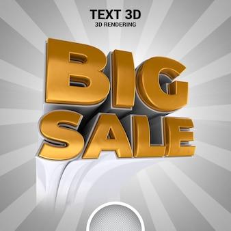 Grande vendita banner 3d rendering