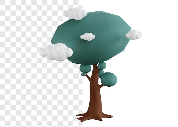 Grande albero illustrazione 3d concetto