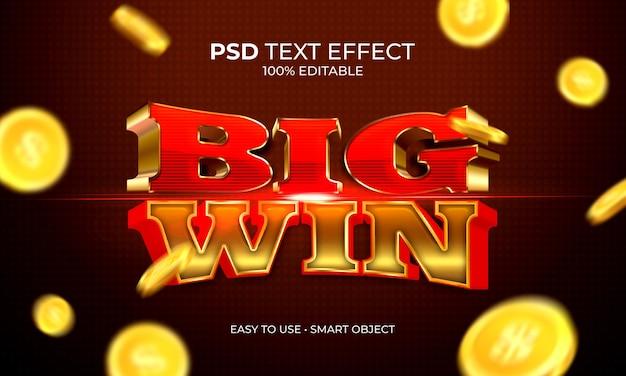 Effetto testo big win jackpot