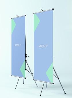Modello di banner cartellone pubblicitario