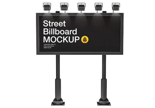 Billboard mockup design isolato