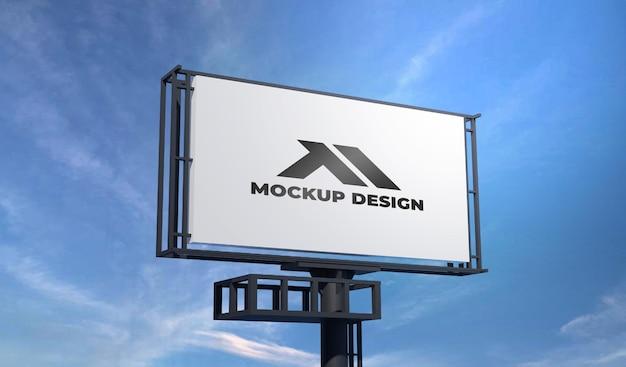 Design del mockup del tabellone per le affissioni