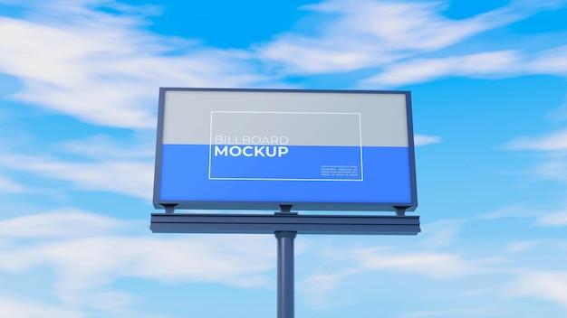 Mockup di tabellone per le affissioni in cielo